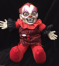 Horror Toy TALKING CREEPY KILLER CLOWN DOLL Scary Haunted House Prop Dec... - $44.52