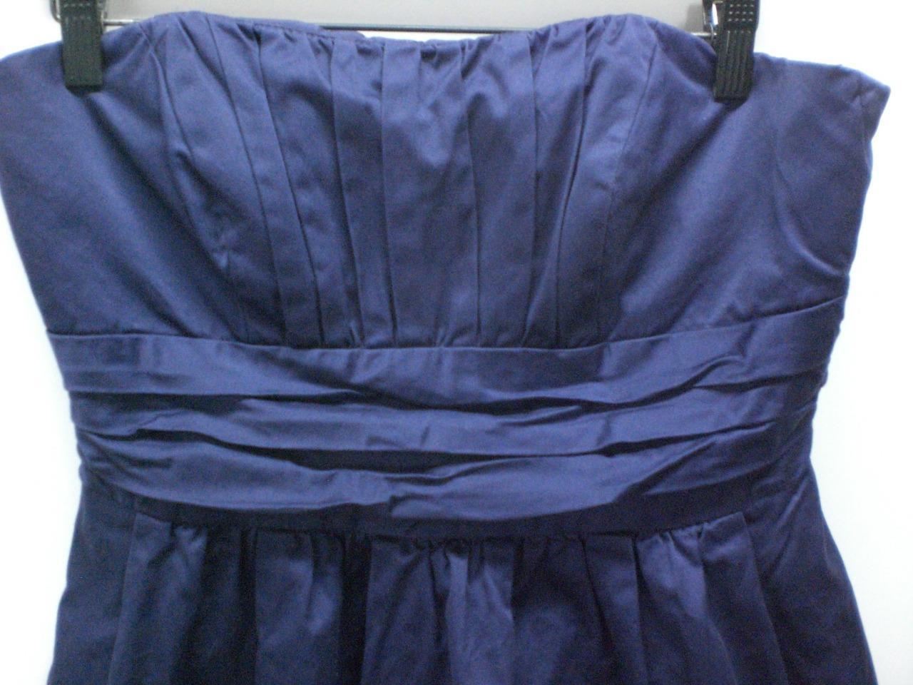 W13895 Womens DAVIDS BRIDAL Plum Purple 83312 Strapless BRIDESMAID DRESS 10