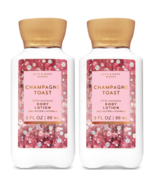 Two Bath & Body Works Champagne Toast 24 Hour Moisture Body Lotion Trave... - $9.77