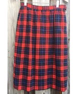 Vtg. Pendeleton Authentic Manson Tartan Lined Wool Skirt 8 High Waist D6 - $26.13