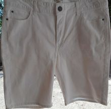 """Riders by Lee Women's Stretch Jean Bermuda SHORTS 14 WAIST 37"""" WHITE SEQUIN   image 5"""