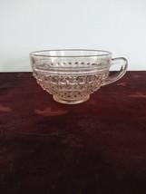 """Vintage Hobnail Pink Anchor Hocking Depression Glass Cup 2.25""""  - $14.84"""