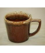 McCoy Brown Drip Coffee Mug Dark Brown Drip Glaze Design USA - $19.79