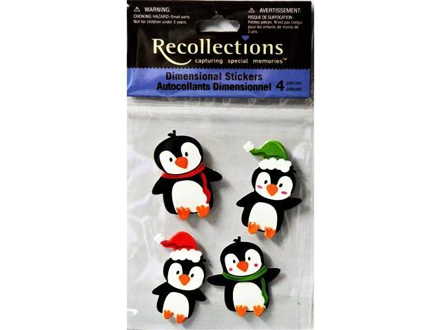 Recollections Dimensional Penguin Stickers, #10460763