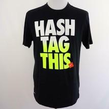 Nike Dri Fit Black T Shirt # Hash Tag This Mens Sz L - $17.34