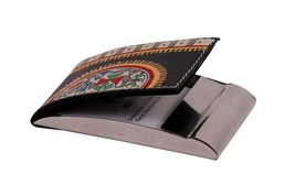 Handcrafted leather visiting card holder  s Indian Traditional Handmade ... - $25.00