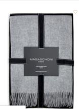 "Saks 5th Magaschoni Stripe Cashmere Throw Grey New  Gift box 50""W x 60""L - ₹14,010.28 INR"