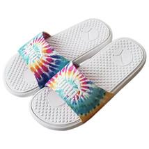 Nwt Puma Authentic Cool Cat Sport Womens Tie Dye White Slip On Slides Sandals - $25.99