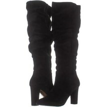 Franco Sarto Artesia Pointed Toe Slouch Knee High Boots 315, Black Suede, 7 US / - $71.03