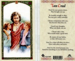 Teen Creed Don't Let Your Parents Down - EB291 - They Brought You Up Pra... - $2.79