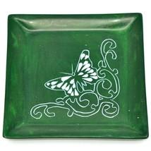 Tabaka Chigware Hand Carved Kisii Soapstone Butterfly Green Trinket Dish Kenya image 1