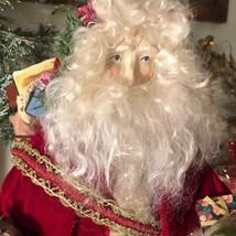 """18"""" House Of Hatten Folk Art Christmas Santa JUDIE TASCH Tree Velvet Sui... - $197.99"""