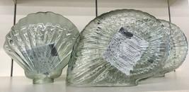 Pottery Barn Snail Shell Glass Luminary Clear Light Coastal Decor - $49.50