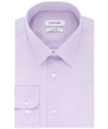 Calvin Klein Helio Purple Regular Fit Non-Iron Performance Stretch Dress... - $21.95