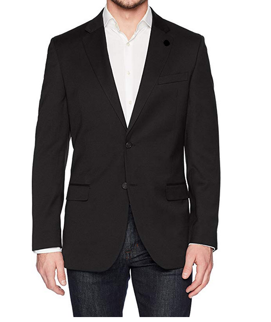 Primary image for Nautica Two Button Solid Sport Coat, Black, 14 Regular
