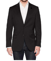 Nautica Two Button Solid Sport Coat, Black, 14 Regular - $197.99