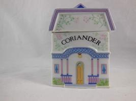 "New Coriander Spice Jar – ""The Lovely Spice Village"" – Fine Porcelain Spice Jar  - $16.82"
