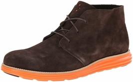 Cole Haan Men's Lunargrand Woodbury Brown Suede Orange Chukka Boot 11 US NIB image 1