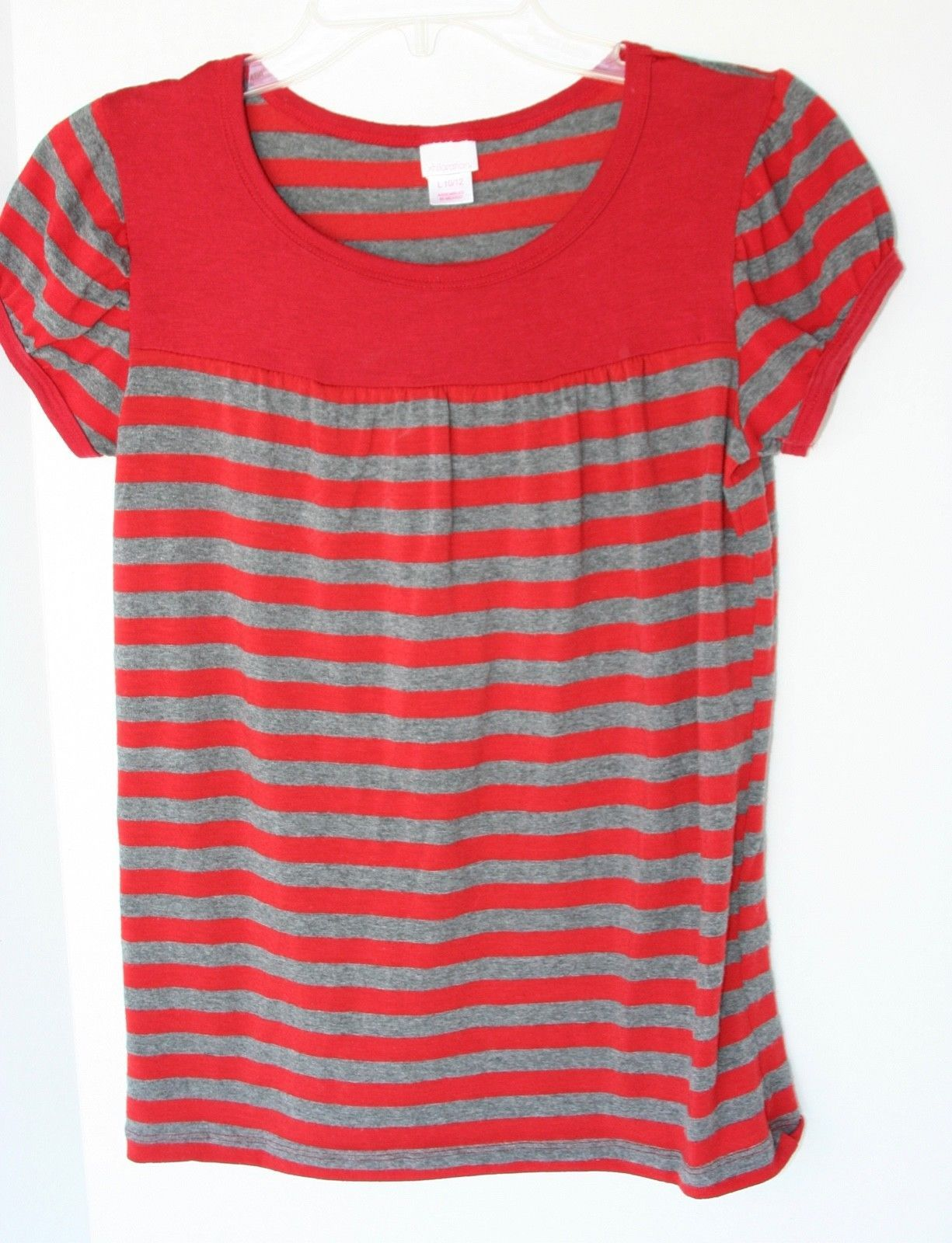NWT Gymboree Girls Coral Striped Ruffle Neck Tank Top Sizes 5 6 7 8 10 12