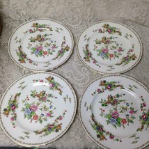 Vintage Crown Staffordshire Polychrome Gaudy BlueWillow 4pc 10.5in Dinne... - $94.95