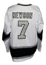 Custom Name # New Haven Nighthawks Retro Hockey Jersey 1980 New White Any Size image 2