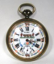 Antique Vintage Rubis 17 Jewels Incabloc Dial Swiss Pocket Watch C1055 - $227.27