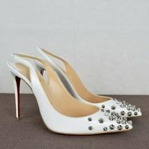 Christian Louboutin White Drama Sling Pumps New Size 39 - $529.00