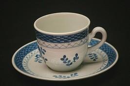 """Denmark 992 Basket Weave Blue 2-1/2"""" Tea Cup & Saucer Set Blue Floral Sm... - $21.77"""