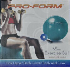 PRO-FORM 65cm. Exercise Ball with workout DVD and hand pump - $17.75