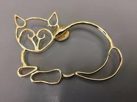 Vintage  Goldtone Cat Pin - $7.00
