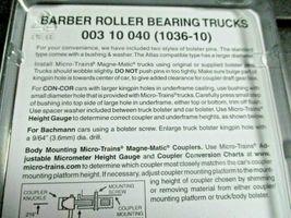 Micro-Trains Stock # 00310040 (1036-10) Barber Roller Bearing Trucks w/o Coupler image 3