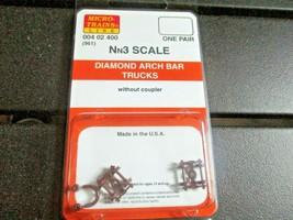 Micro-Trains Stock # 004002400 (961) Diamond Arch Bar Trucks Nn3 1 Pair image 1