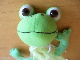 SMALL green FROG  figural gift bag EMPTY    - $9.89