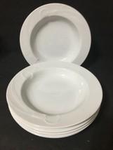 MIKASA China CLASSIC FLAIR WHITE K1991 Set of 6 Soup Bowls Calla Lily PD19 - $39.99