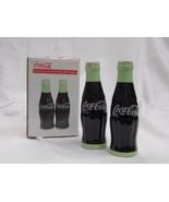 """Coca-Cola 4"""" Ceramic Salt & Pepper Shakers - NIB - $13.12"""