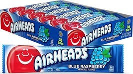 Airheads Candy, Individually Wrapped Full Size Bars, Blue - $9.19