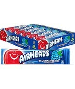 Airheads Candy, Individually Wrapped Full Size Bars, Blue - £6.65 GBP