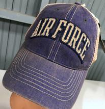 Air Force Retro Distressed Legacy Mesh Snapback Baseball Cap Hat - $17.43