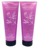 2 Bath & Body Works Aromatherapy SLEEP Rose Lavender Moisturizing Body W... - $21.80