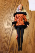 Vintage 1981 Sexy Barbie Blonde Barbie doll w Orange Kitty Cat Outfit co... - $24.70