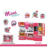 66095 Pink Happy Kitchen Play Set Barbie Compatible Refrigerator, Stove ... - $24.99
