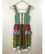 Mustard Pie Girls 10 Patchwork Tiered Ruffle Dress Sleeveless - $29.99