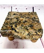Granite Cheese Tray Board Brown Beige Black with  Cork Legs CT1003 - $45.00