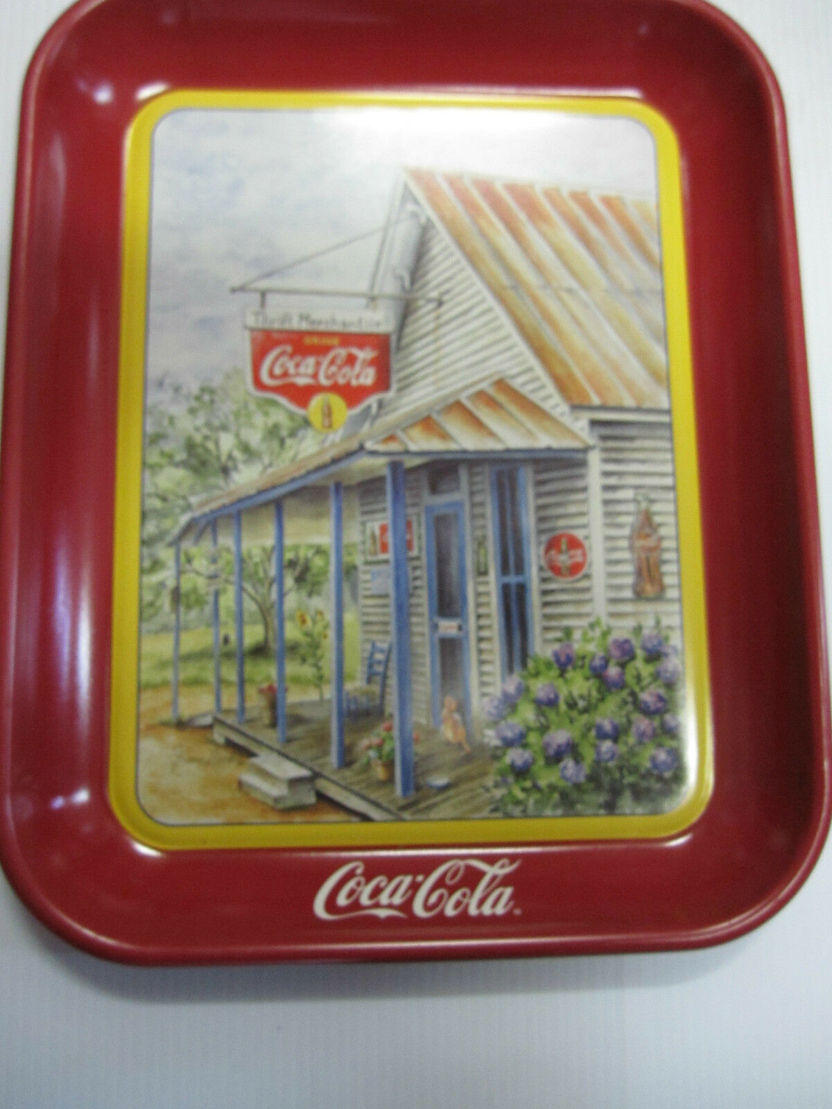 Primary image for Coca Cola Metal Thrift Mercantile Tray - New -