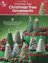 Christmas Tree Christmas Tree Ornaments Crochet Gold Green White Purple Light - $3.95