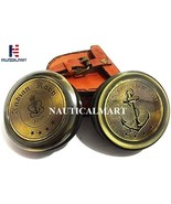 Brass Compass Antique Navy Chief of The Naval Staff Gift Compass with Leather Ca - $25.00