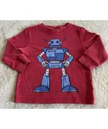 Circo Boys Red Blue Gray Robot Thermal Long Sleeve Shirt 18 Months - $5.48