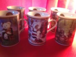 "Danbury Mint Boyds Bears Mugs Cups Collector 4"" x 3"" New Set of 6 - $46.99"