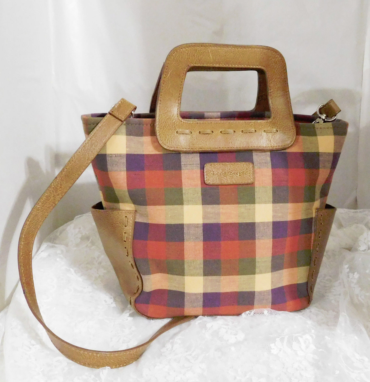 26a289d2b726a Longaberger Homestead Plaid Purse with Long and 50 similar items