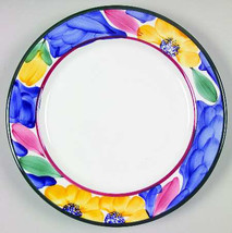 Per 30 Handpainted Dinner Plate with Flowers by Pier 1 - Made In Italy - $9.99